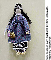Fully dressed corn husk doll by Kim Nishimoto. Photo by Rick March.