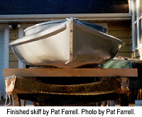Finished skiff by Pat Farrell. Photo by Pat Farrell.