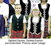 Heather Highland Dancers, Vanessa Everson and Annika Bach. Photo by Jamie Yuenger.